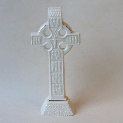 Royal Tara Irish Bone China Celtic Cross Table Figurine Wall Plaque 8.5 Inch