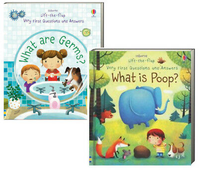 Usborne Lift The Flap Very First Questions & Answers What is Poop,What are Germs