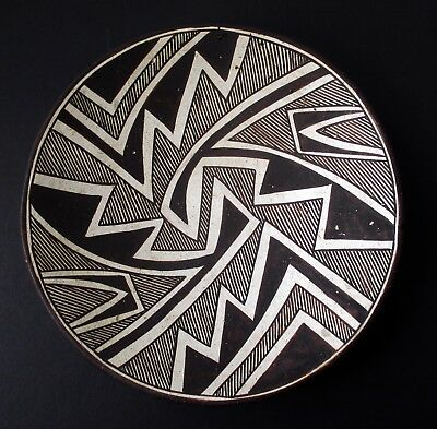 Original 1960s Pottery Plate/Bowl by MARIE ZIEU CHINO, Acoma Pueblo, New Mexico