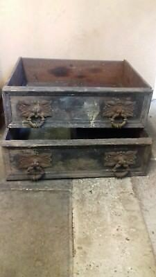 2 x ANTIQUE FURNITURE DRAWS  1700 CIRCA.