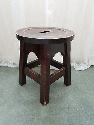 Antique Wooden Rustic Church Stool ~ Vintage Wood Religious
