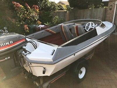 Picton 15ft speed boat with Mariner 55 and trailer