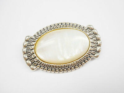 Carolyn Pollack Relios Sterling Silver Mother Of Pearl Brooch Pin