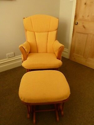 Dutalier Nursing chair, Rocking Chair, Glider with matching footstool