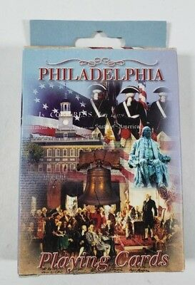 Vintage Philadelphia PA Deck Of Playing Cards Liberty Bell New Old Stock