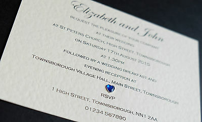 50 Handmade Personalised Wedding Invitations Day/Evening *Free P&P* *Envelopes*