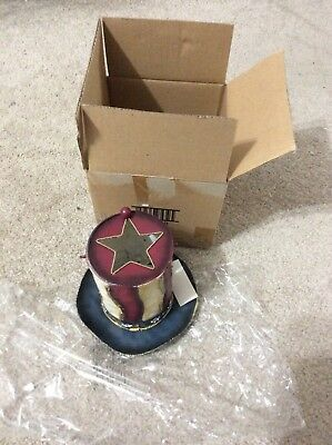 Home Interior / Homco Americana Metal Candle Holder With Handle New In Box 92029
