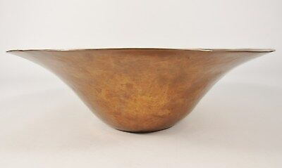 "Vintage ARTS & CRAFTS Large 10"" Hand Hammered Copper Centerpiece Bowl"