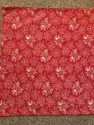 'WOW' Great Red Heart Antique Vintage 1/2 Feedsack/Flour Cotton 16 X 18