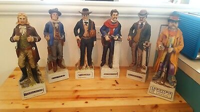 1970's McCormick Whiskey Decanters -Gunfighter Collection 5 Decanters plus Extra