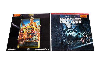 2 Laser Discs BIG TROUBLE IN LITTLE CHINA & Escape From New York Kurt Russell