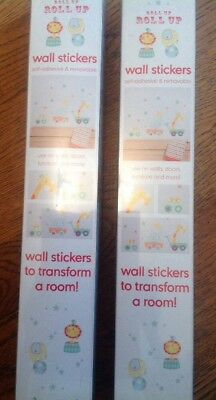 2 Packs Of Mothercare Roll Up  Roll Up Wall Stickers. ** Bnip **