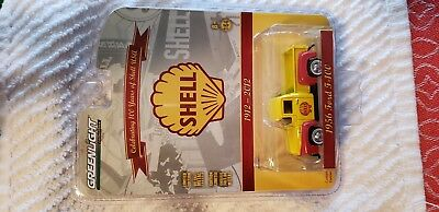 Greenlight Shell 1956 Ford F - 100 diecast Pickup truck 1/64th scale