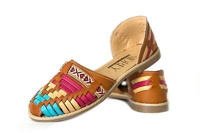 7e1ced7e49a5 CLASSIC Women s MEXICAN SANDALS CLOSED Toe MULTI  70 Flats Huarache Sandal
