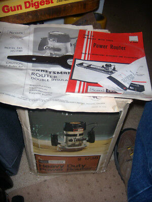 Sears Craftsman New Heavy Duty Power Router 9-1738 Original Box