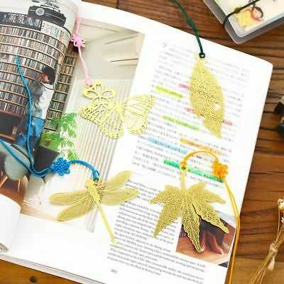 Marker Stationery Supplies Metal Bookmark Student Gift Mulberry Maple Leaf
