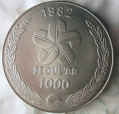 1982 SOUTH KOREA 1000 WON - AU - Rare One Year Type Coin - Lot #917
