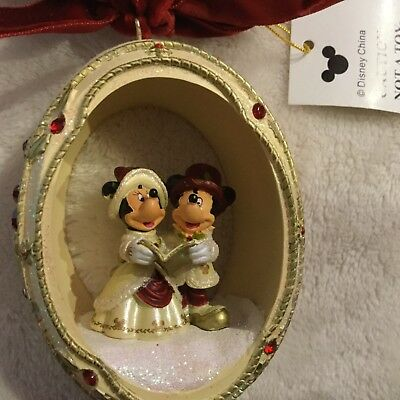 Disney Ornament Mickey and Minnie Mouse NWT