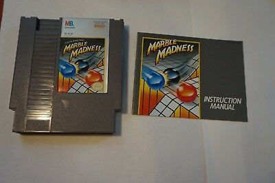 Marble Madness (Nintendo 1989) NES, With Original Manual / Booklet Excellent
