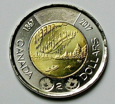 1867-2017 CANADA 150th Elizabeth II Coin - $2 Toonie - UNC (from mint roll)