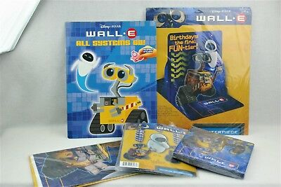 Wall E Birthday Party Decorations Lot Of 5 Table Cover Center Piece Napkins