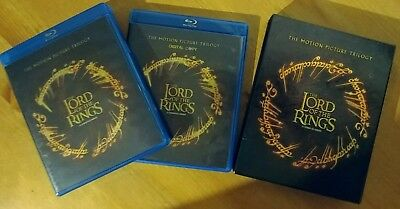 The Lord of the Rings: The Motion Picture Trilogy Lot (Blu-ray, 9-Disc Set, DC)