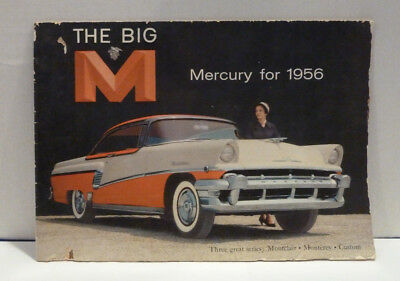 """The big """"M"""" Mercury for 1956 Fold Out Brochure"""