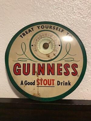 Vintage Guinness Stout Thermometer - Long Island City NY