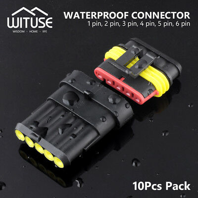 10pcs WATERPROOF ELECTRICAL TRUCK WIRE CONNECTOR PLUG 2/3/5/6 PIN WAY TERMINALS