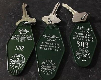 Vintage Key Fob Holiday Inn Beverly Hills