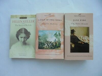 3 Lot Classics Jane Eyre Bronte A Tale of Two Cities Dickens PB Helen Keller