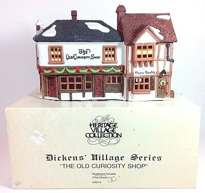 RETIRED DEPT. 56 Heritage Village Dickens THE OLD CURIOUSITY SHOP #59056 IN BOX