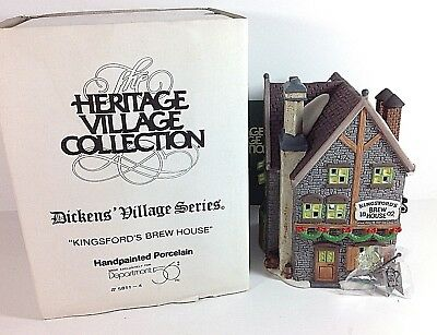 RETIRED DEPT. 56 Heritage Village Dickens KINGSFORD'S BREW HOUSE #58114 IN BOX