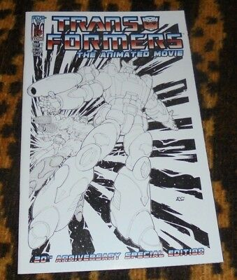 RARE The Transformers: The Animated Movie #2 Don Figueroa Incentive Sketch Cover