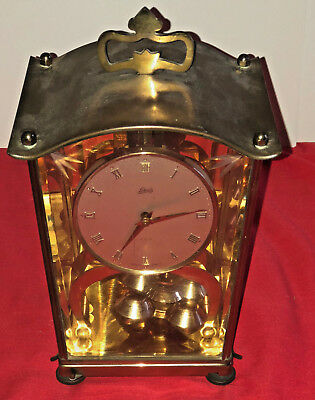 Vtg. German 1954 400 Day Clock Aug Schatz & Sohne 53 (For Parts or Repair)