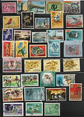 Ghana 35 Different Colorful Stamps