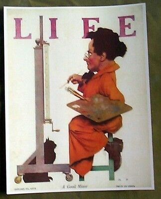 Maxwell Parrish Painting On Life Magazine Cover Reprint 1924 Black Cat