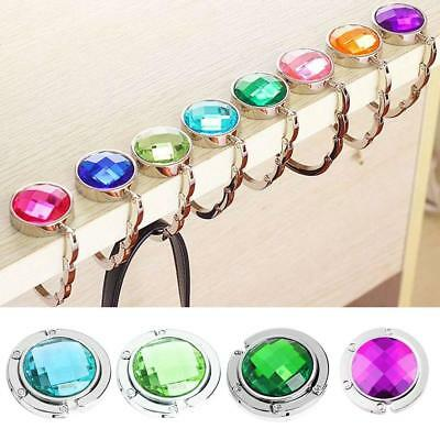 1pcs Ladies Crystal Rhinestone Foldable Table Hook Bag Handbag Holder Strap Gift