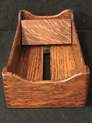 Antique Macey Oak Index Card Tray Excellent L@@k