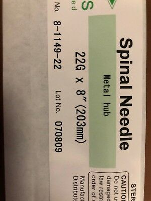 "Spine Spinal Needle 22G x 8"" Metal Hub 8-1149-22"