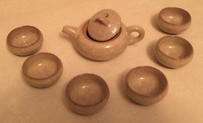 New  Authentic Japanese Pottery : Tea Pot With 6 Cups