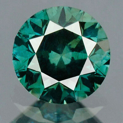 0.27 cts. CERTIFIED Round SI3 Vivid Ocean Blue Color Loose natural diamond 12106