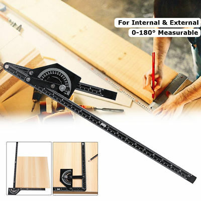 50cm/20 inches 23cm/9 inches Marking Gauge 0-180° Angle Finder Measuring Ruler