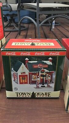 Lemax Coca-Cola Town Square Collection - Flying A Gas Station - 1994 New In Box
