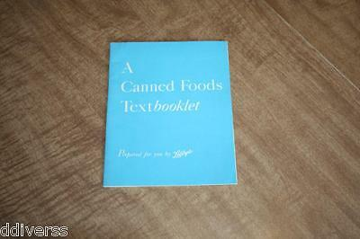 Vintage Libby's A Canned Food Textbooklet 31 Pages WWII?? See Pix!!