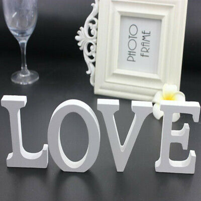 Wooden Alphabet Letters Numbers LOVE Freestanding Wedding Party Home Shop Decors