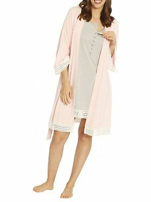 4 Piece Hospital Pack: Robe + Nursing Dress + Baby Wrap + Garment Bag
