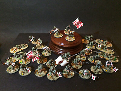 Bolt Action 28mm WW2 Japanese Army 30 men painted Warlord Games