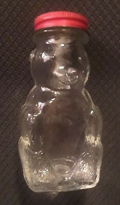 Vintage Domino Sugar 'n Cinnamon Shaker Glass Bear Jar - Mr. Bear's a Bank, Too!