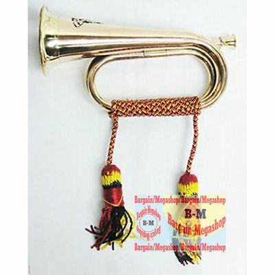 Royal Brass Bugle Vintage Musical Instrument Military Trumpet